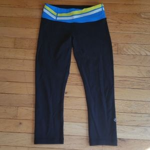 Reversible Wunder Unders with blue/yellow waist